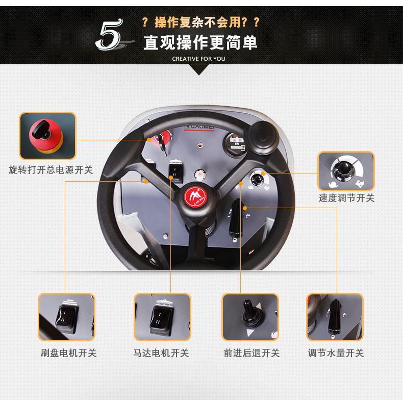 高美全自动驾驶式洗地机GM110BT85