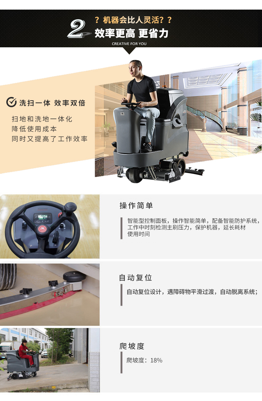 高美GAOMEI驾驶式洗扫一体机GM110BTR80